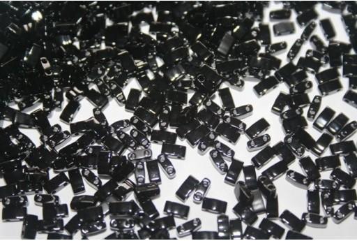 Perline Miyuki Half Tila 1/2 Cut Black 2,5x5mm - 5gr