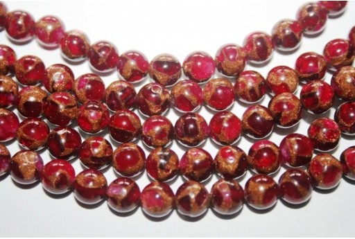 Jasper Synthetic Beads Red Sphere 8mm - 48pz