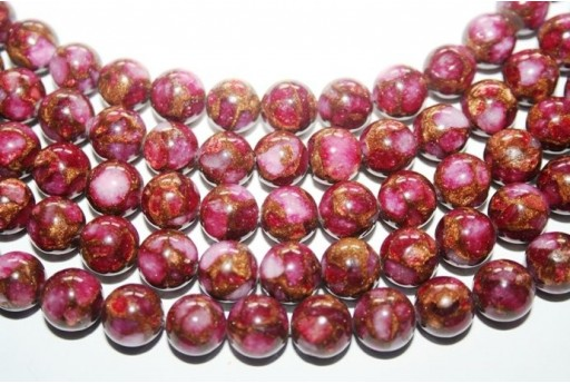 Jasper Synthetic Beads Red Sphere 10mm - 38pz