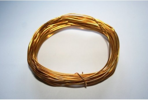 Aluminium Wire 0,8mm Gold - 12m