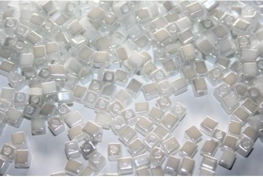 Miyuki Cube Beads Opaque White 4x4mm - 10gr