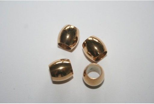 Gold Plated Steel Oval Bead 10x10mm MIN127D