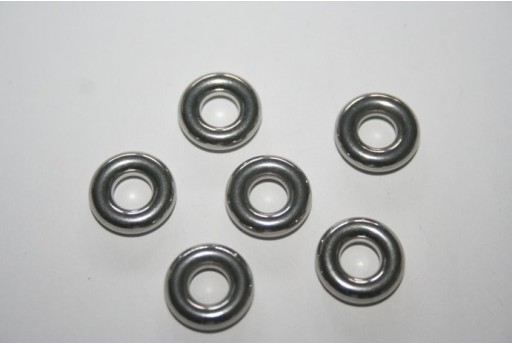 Steel Spacer Round Beads 12X3,5mm - 2pcs