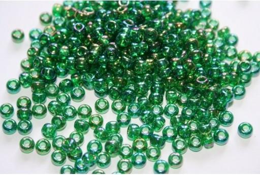 Perline Miyuki Round Rocailles Transparent Green Luster 6/0 - 10gr