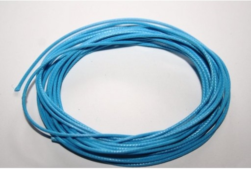 Light Blue Waxed Polyester Cord 1mm - 12m MIN125A