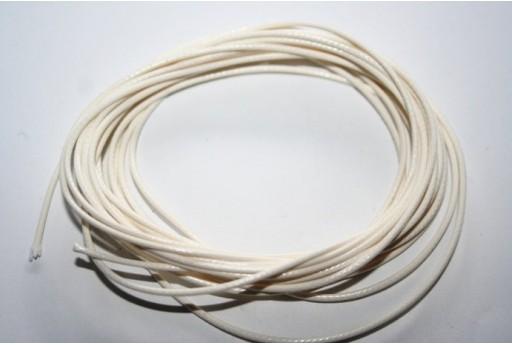 Filo Poliestere Cerato 1mm, 12mt. Bianco MIN125B