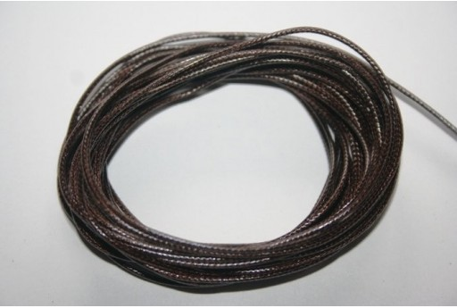 Darnk Brown Waxed Polyester Cord 1mm - 12m MIN125D