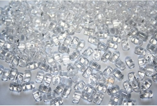 Perline Rulla 3x5mm, 10gr., Crystal Col.00030