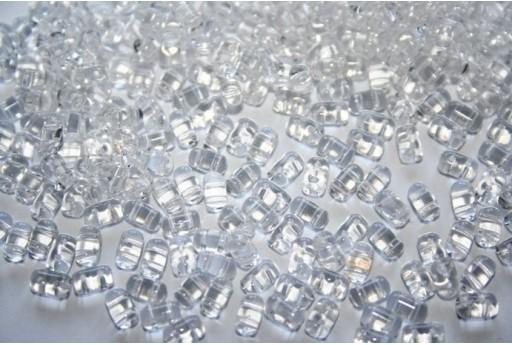 Perline Rulla 3x5mm, 10gr., Crystal Col.00030