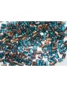 Perline Rulla 3x5mm, 10gr., Copper-Aqua