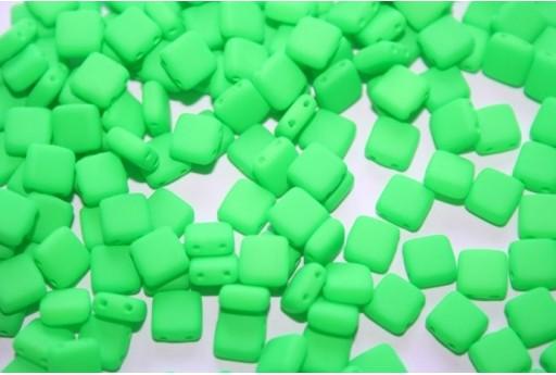 Perline Tile 6mm, 50Pz., Neon-Green Col.25124AL