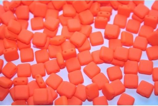 Perline Tile 6mm, 50Pz., Neon-Orange Col.25122AL