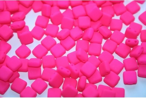 Perline Tile 6mm, 50Pz., Neon-Pink Col.25123AL