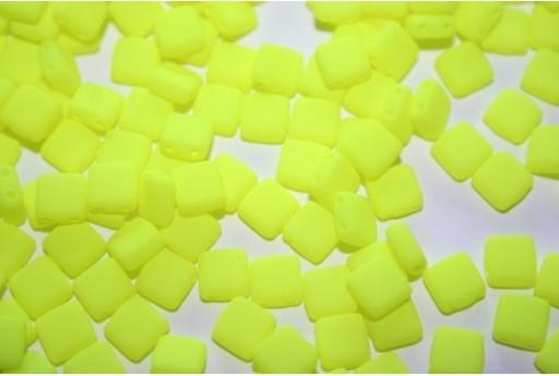 Perline Tile 6mm, 50Pz., Neon-Yellow Col.25121AL