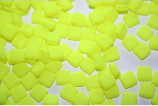 Perline Tile 6mm, 50Pz., Neon-Yellow Col.25121AL