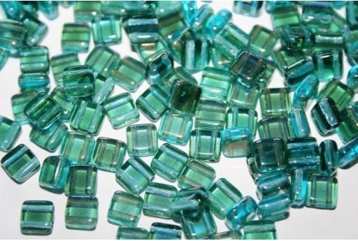 Perline Tile 6mm, 50Pz., Twilight-Aquamarine Col.W60020