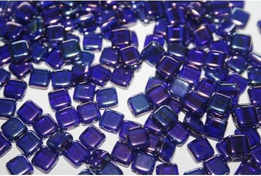Tile Beads 6mm, 50Pz., Cobalt-Vega Col.LE30090