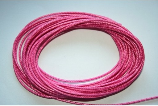 Pink Waxed Polyester Cord 1mm - 12m MIN125G
