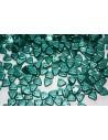 Triangle Beads Pastel Dark Green 6mm - 8gr
