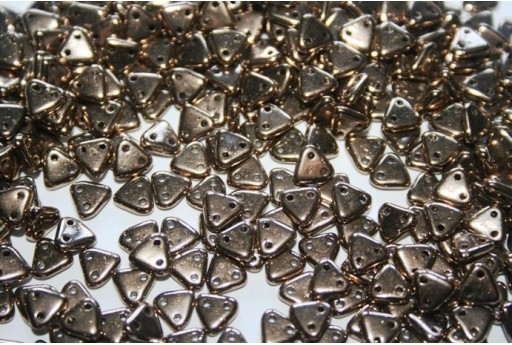 Perline CzechMates Triangle 6mm, 8gr., Bronze Col.B23980