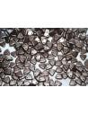 Triangle Beads Pastel Dark Brown 6mm - 8gr