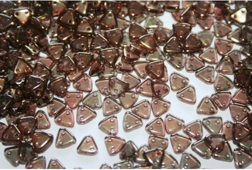 Perline CzechMates Triangle 6mm, 8gr., Bronze-Olivine Col.LZ50230