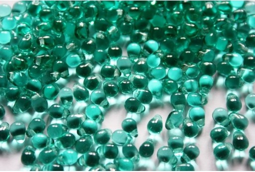Perline Drops 4x6mm, 10gr, Teal Col. 60220