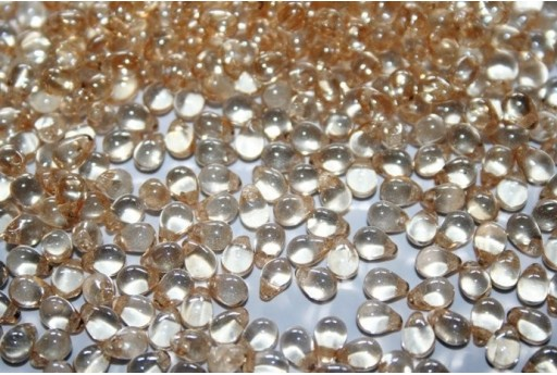 Perline Drops 4x6mm, 10gr, Luster Transparent Champagne Col.LC00030
