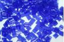Perline Miyuki Tila Transparent Cobalt 5mm - 5gr