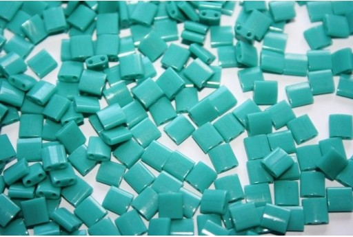 Miyuki Tila Beads Opaque Turquoise Green 5mm - 5gr