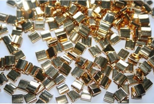 Miyuki Tila Beads 24KT Gold 5mm - 5gr