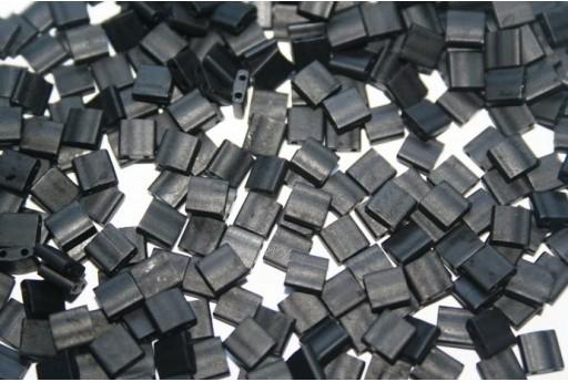 Perline Miyuki Tila Matte Black 5mm - 5gr