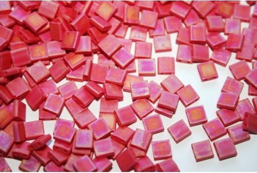 Miyuki Tila Beads Matte Opaque Red AB 5mm - 5gr