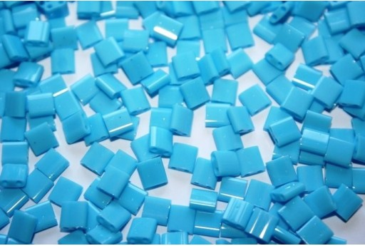 Miyuki Tila Beads Opaque Turquoise Blue 5mm - 5gr