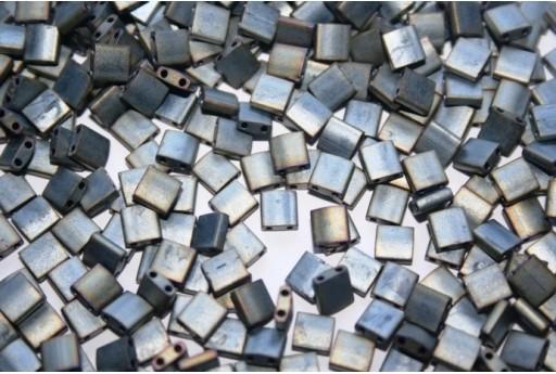 Miyuki Tila Beads Matte Metallic Silver Grey 5mm - 5gr