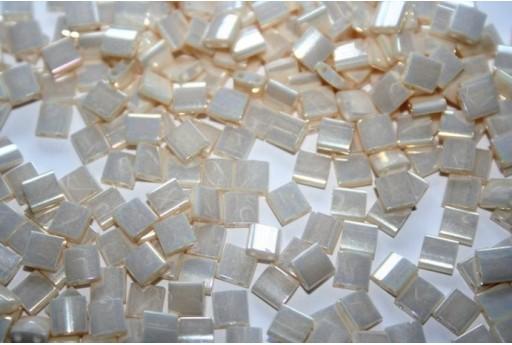 Perline Miyuki Tila Ivory Pearl Ceylon 5mm - 5gr