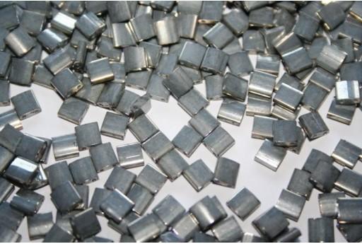 Miyuki Tila Beads Galvanized Grey Luster 5mm - 5gr