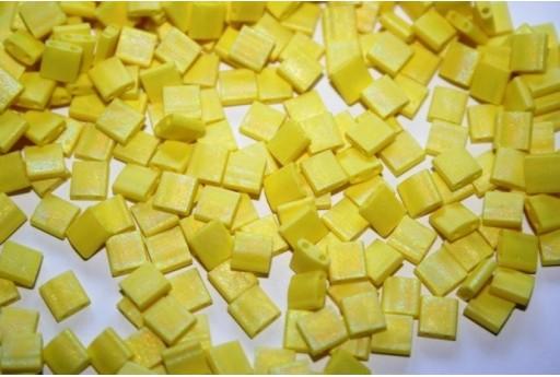 Miyuki Tila Beads Matte Opaque Yellow AB 5mm - 5gr