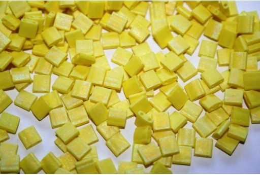 Perline Miyuki Tila Matte Opaque Yellow AB 5mm - 5gr