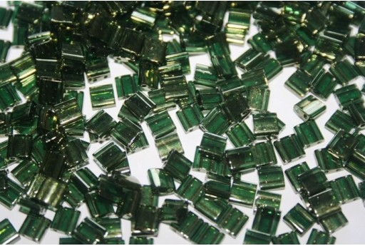 Perline Miyuki Tila Olive Green Gold Luster 5mm - 5gr