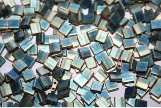 Perline Miyuki Tila Matte Metallic Green Iris 5mm - 5gr