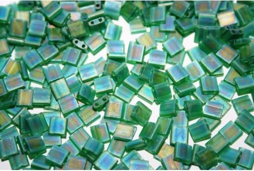 Miyuki Tila Beads Matte Trans. Green AB 5mm - 5gr