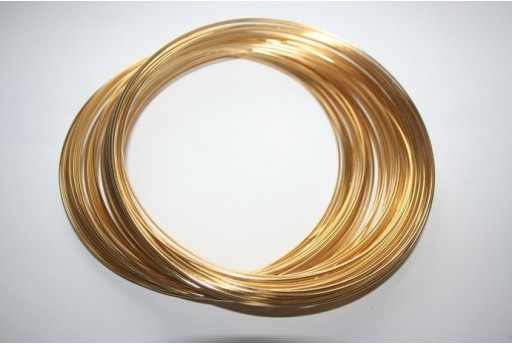 Memory Wire 110,5x1mm Gold Plated - 5 Loops