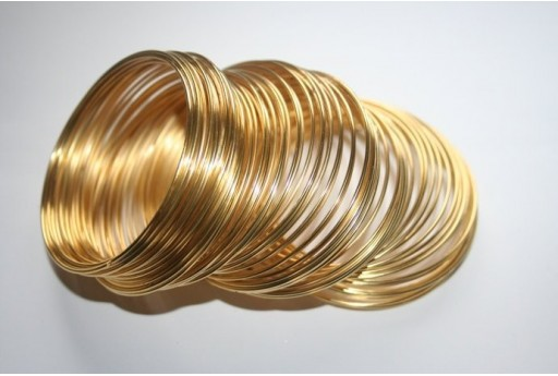 Memory Wire 50,5x1mm Gold Plated - 10 Loops