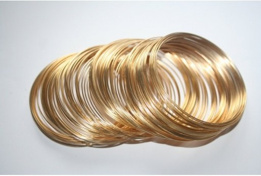 Memory Wire 50,5x0,6mm Gold Plated - 10 Loops MIN129G