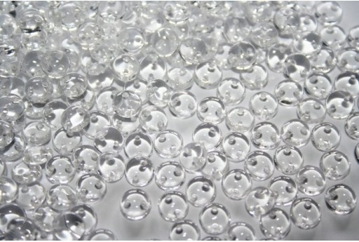 Perline Lentil CzechMates 6mm, 50Pz., Crystal Col.00030