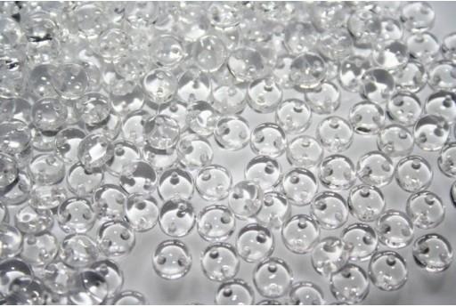 Perline Lentil 6mm, 50Pz., Crystal