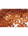 Lentil Beads 6mm, 50Pz., Milky Pink-Bronze Picasso