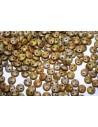 Perline Lentil CzechMates 6mm, 50Pz., Chartreuse-Copper Picasso Col.MLG84020