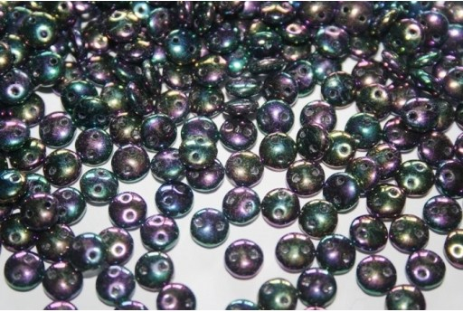 Lentil Beads 6mm, 50Pz., Iris Purple